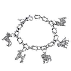 Great Tiffany & Co. Sterling Dog Charm Bracelet
