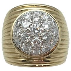 René Boivin Large Two Color Gold Ring