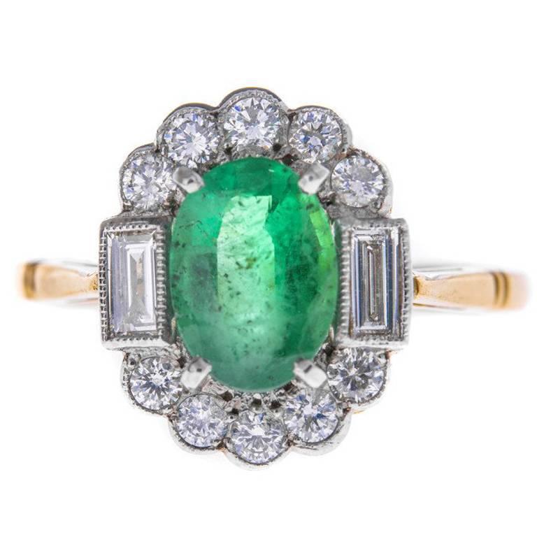 1 00 carat emerald and dress ring at 1stdibs