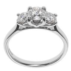 1.00 Carat Diamond Platinum Trilogy Ring
