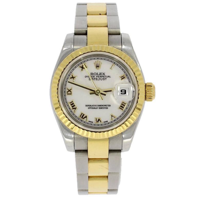 Rolex Ladies Perpetual Datejust Bracelet Wristwatch Ref 179173