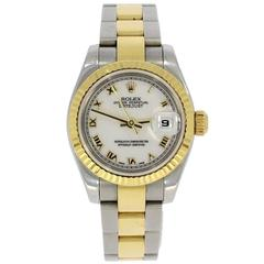 Rolex Ladies Perpetual Datejust Bracelet Wristwatch Ref 179173