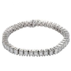 Full Diamond Pave Platinum Tennis Bracelet