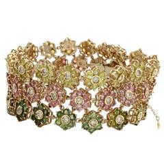 Luise Gold Diamond Tourmaline Bracelet