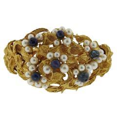 Ilias Lalaounis Pearl Gemstone Gold Bracelet