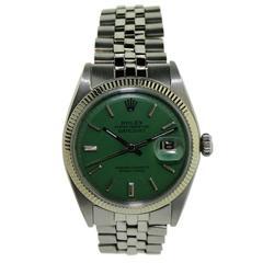Rolex White Gold Stainless Steel Bezel Datejust Watch, circa 1970s