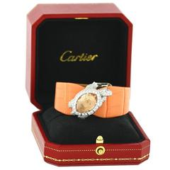 Cartier Ladies Morganite Diamond Turtle Wristwatch