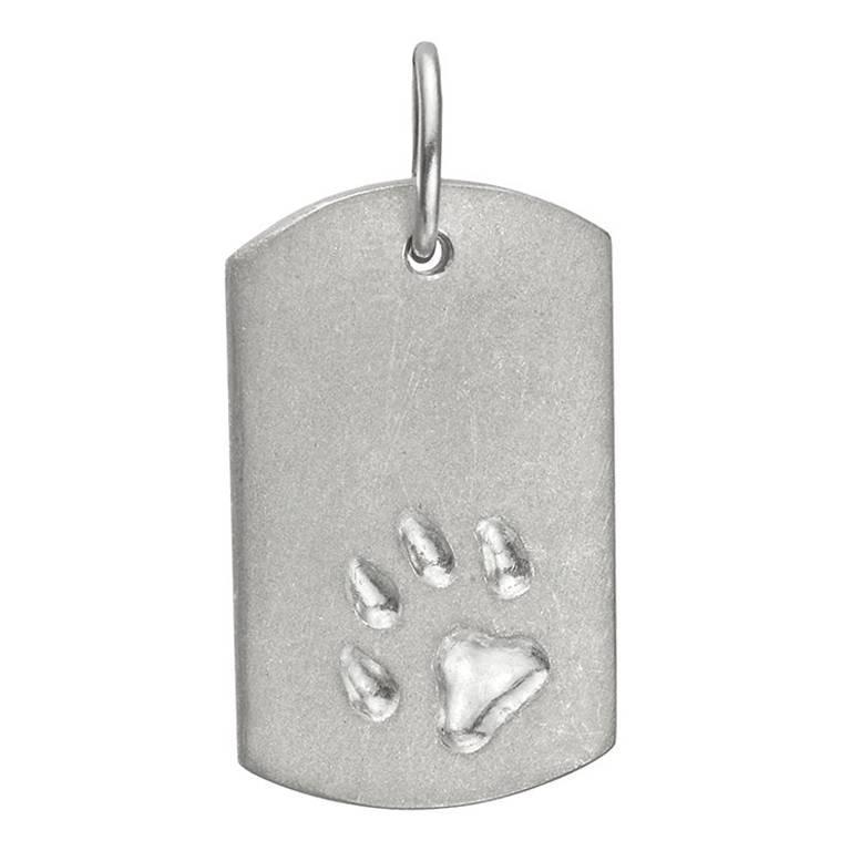 platinum dog tag pendant for sale at 1stdibs