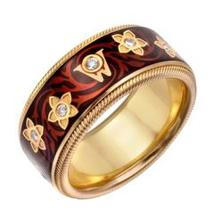 Wellendorff Enamel Diamond Miracle Flower Ring