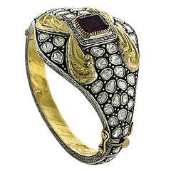 Diamond Tourmaline Bangle Bracelet