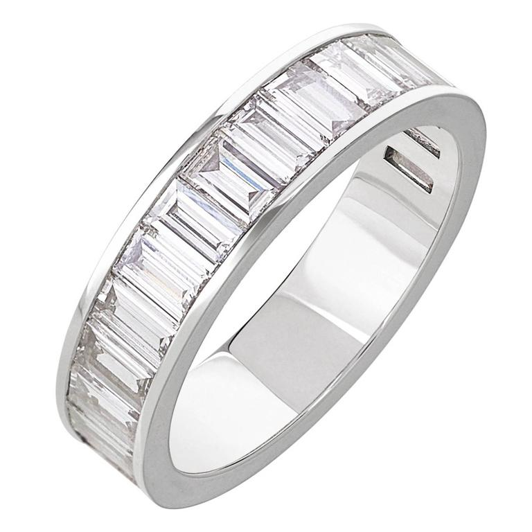princess gold channel white band bands twt cut set in d diamond