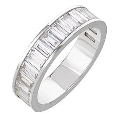 Bartolotti 1.87 Carat Baguette Cut White Diamonds White Gold Wedding Band Ring