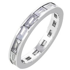 Bartolotti 1.76 Carat Baguette Cut White Diamonds White Gold Wedding Band Ring