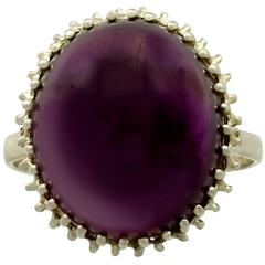 16.13 Carat Amethyst and Yellow Gold Ring, 1950s