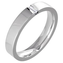 White Gold Baguette White Diamond Wedding Band Ring