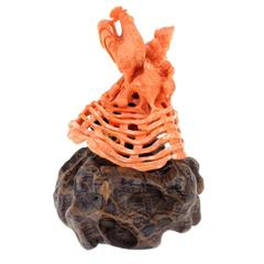 Luise Coral Wood Sculpture