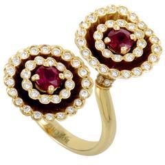Boucheron Toi et Moi Ruby Diamond Yellow Gold Ring