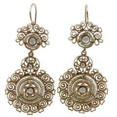 Luise Pearl Gold Dangle Earrings