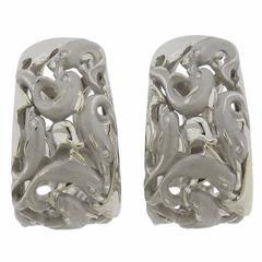 Carrera y Carrera Diamond Gold Dolphin Hoop Earrings