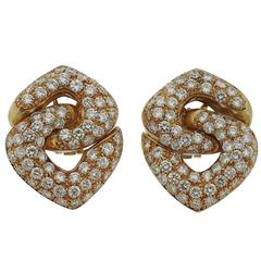 Impressive 6 Carats Diamonds Gold Earrings