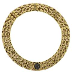 Important Bulgari Monete Rose and Yellow Gold Ancient Coin Necklace