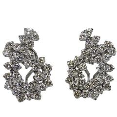4.50 Carat Diamonds White Gold Earrings