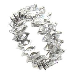4 Carat Marquise Diamond Platinum Eternity Wedding Band Ring