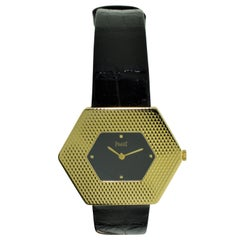 Piaget Yellow Gold Asymmetrical Machined Manual Winding Dress Watch