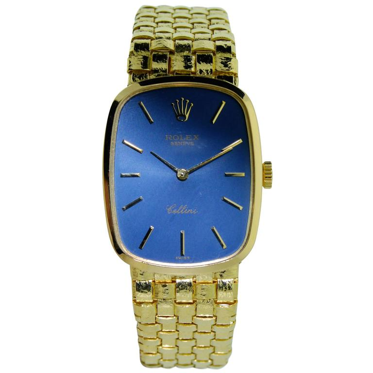 Rolex Ladies Yellow Gold Cellini Series Manual Winding Bracelet Watch