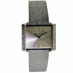 Patek Philippe White Gold Bracelet Manual Watch, Circa 1968