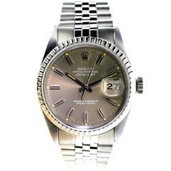 Rolex Stainless Steel Datejust Quickset Perpetual Winding Wristwatch, circa 1977