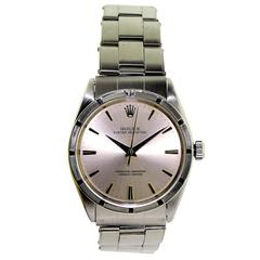 Rolex Oyster Perpetual Thunderbird Bezel Original Riveted Bracelet and Papers