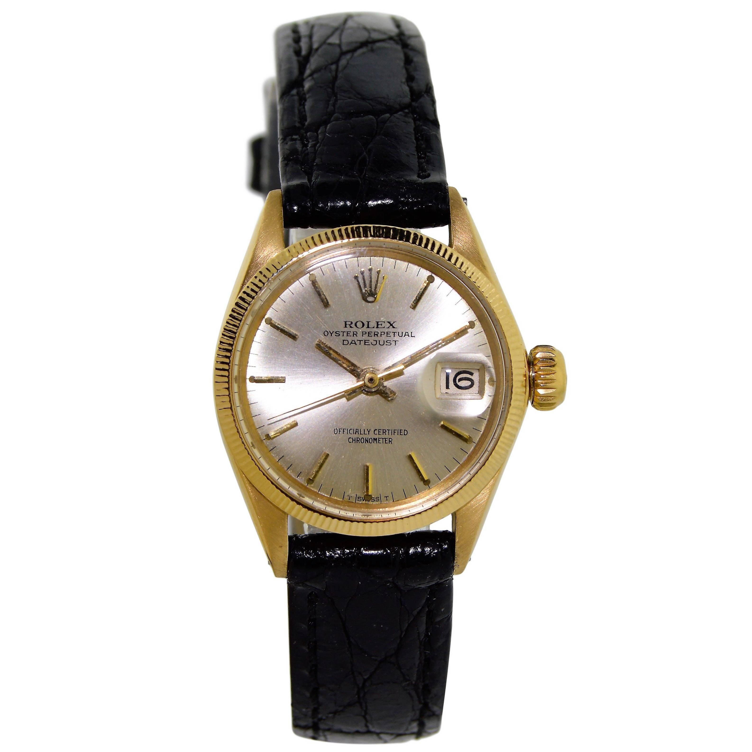 Rolex Ladies Yellow Gold Original Dial Datejust Watch