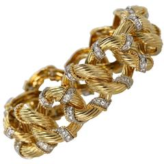 1960s Van Cleef & Arpels Diamond and Gold Bracelet