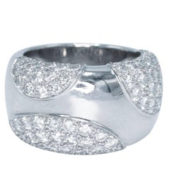 Cartier Diamond and White Gold Band Ring