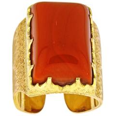 M. Buccellati Rare Coral pink and yellow gold Ring
