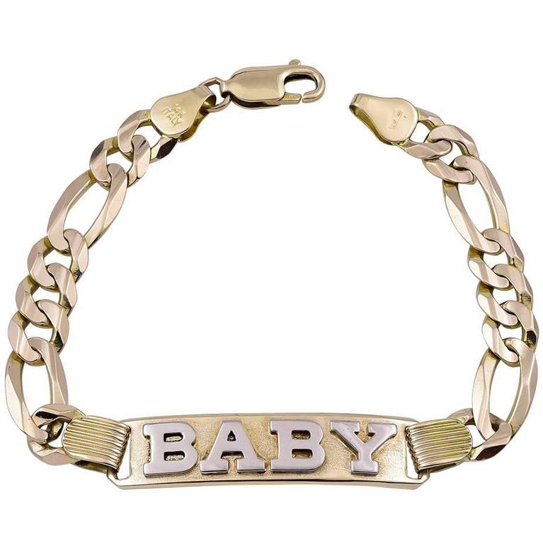 b893b8a819ae4 Gold Baby ID Bracelet