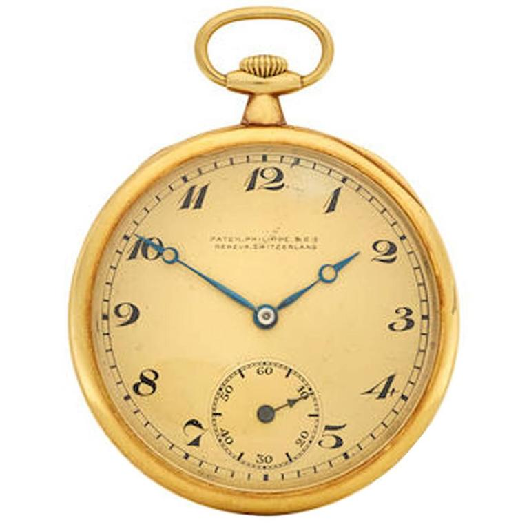 Patek Philippe & Co. Yellow Gold Open Face Pocket Watch, circa 1920