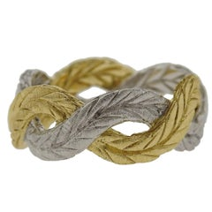 Buccellati Two-Color Gold Braided Band Ring