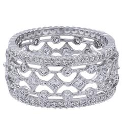 1.04 Carats Diamonds Gold Band Ring