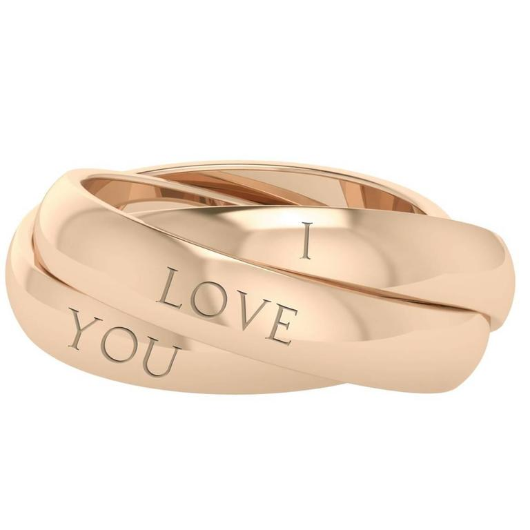 StyleRocks Juno Rose Gold Russian Wedding Ring For Sale at 1stdibs