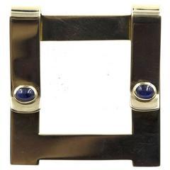 1960s Cartier Cabochon Sapphire Gold Money Clip