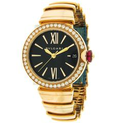 Bulgari Ladies Rose Gold Lucea Self-Winding Wristwatch