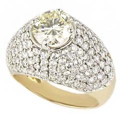 IGI Certified Round Brilliant Cut Diamond Ring