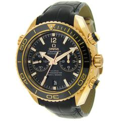 Omega Rose gold Seamaster Planet Ocean Chronograph Wristwatch