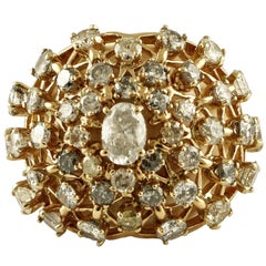 Diamond Gold Dome Ring