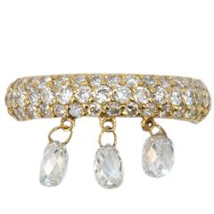 Laura Munder Diamond Yellow Gold Band Ring