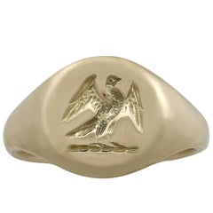 Antique 1920s Yellow Gold Signet Ring