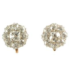 Edwardian Diamond Small Drop Earrings, circa 1910