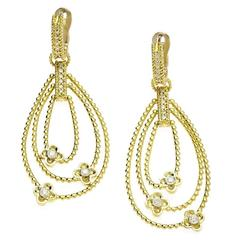Stambolian Diamond Gold Flower Earrings